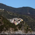 Le village de Corniglia, Cinque Terre, Italie - août 2013