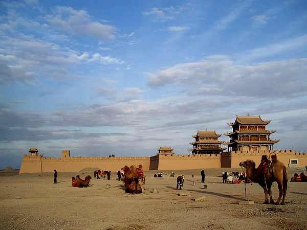 Forteresse de Jiayuguan sur la route de la soie, Chine - 2005