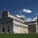 La cathédrale (il Duomo), piazza dei Miracoli, Pise, Toscane, Italie - août 2013