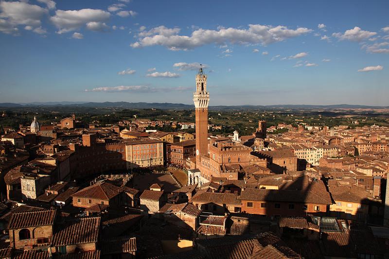 Les toits de Sienne, Toscane, Italie - août 2013