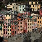 Les maisons colorées de Riomaggiore, Cinque Terre, Ligurie, Italie - août 2013