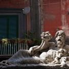 Statue couchée du dieu Nilo, Naples, Italie - 2013