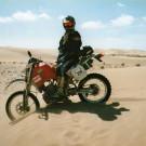 Raid de l'Amitié 1997 - Maroc, Husqvarna 360WR, cordon de dunettes.