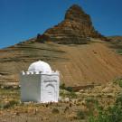 Raid de l'Amitié 1997, marabout dans un cimetière.