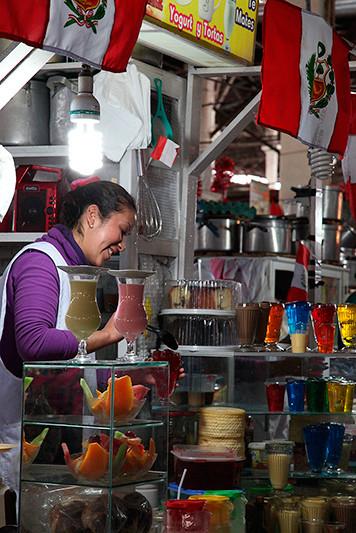 Desserts gélatineux et colorés, Cuzco, Pérou - 2014