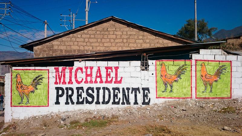 Votez Michael ! Propagande électorale, Abancay, Pérou - 2014