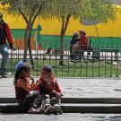 Enfants au marché San Pedro, Cuzco, Pérou - 2014