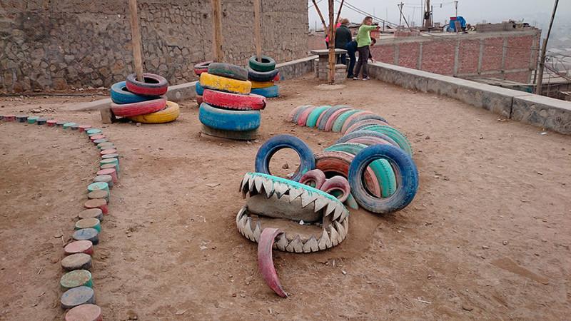 Jardin d'enfants à la Ensenada, Lima - Pérou 2014
