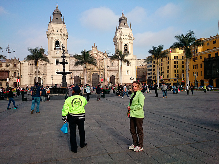 La plaza mayor de Lima, Pérou 2014