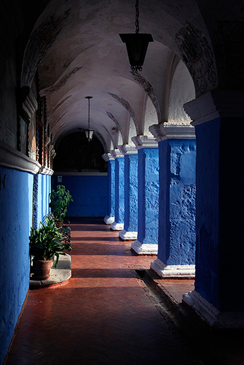 Cloître des orangers, monasterio Santa Catalina, Arequipa, Pérou- 2014
