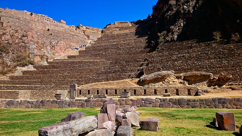 Vue du site Inca de Ollantaytambo, Pérou - 2014