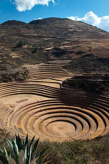 Les terrasses Incas concentriques de Moray, Pérou - 2014