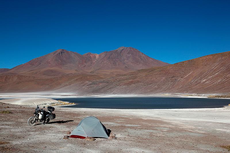 Bivouac à la laguna Honda, Sud Lipez, Bolivie - 2014