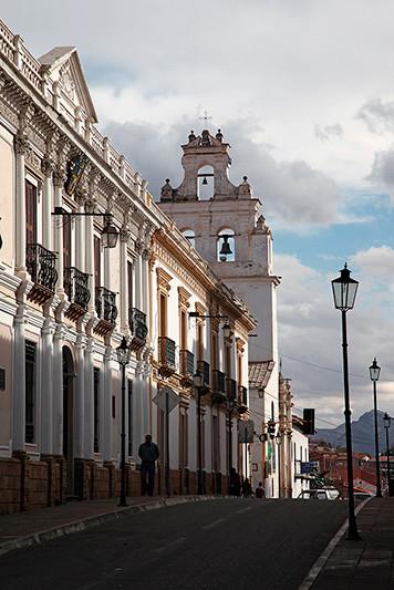 La calle Ortiz, Sucre, Bolivie - 2014