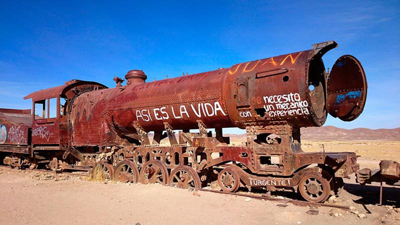 Cimetière de trains, Uyuni, Bolivie - 2014
