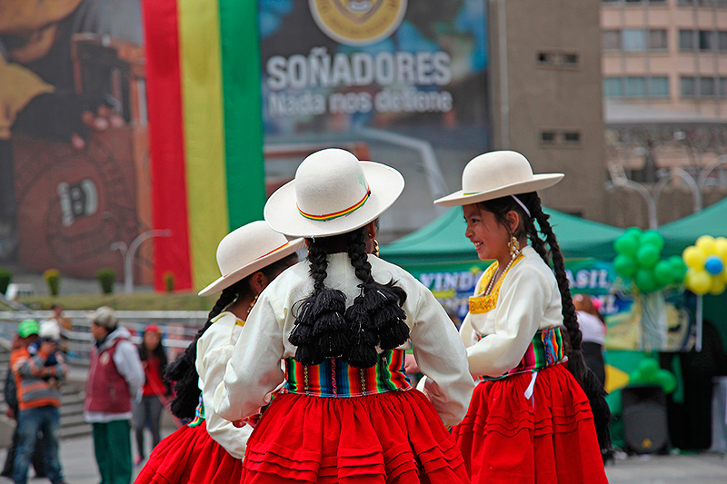 Danses d'enfants, fiesta latina, La Paz, Bolivie - 2014