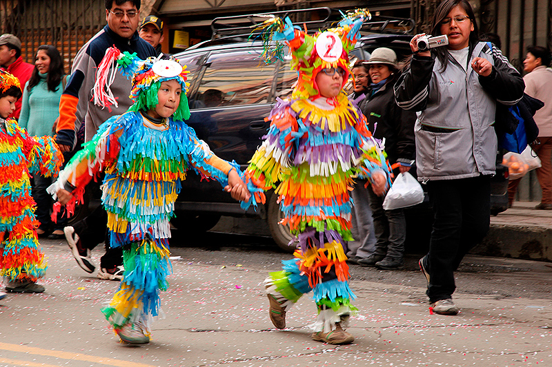 Defilé d'enfants déguisés, La Paz, Bolivie - 2014