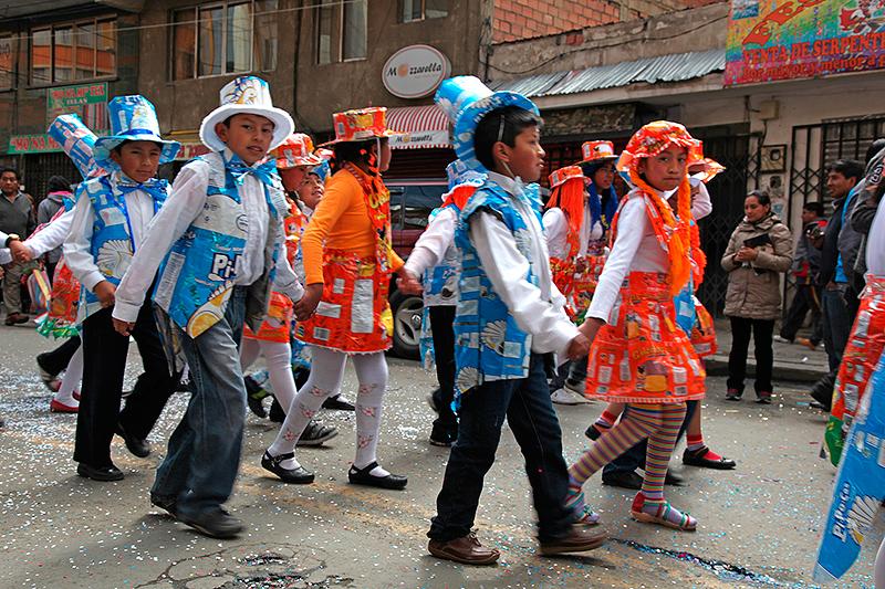 Défilé de sensibilisation à la gestion des déchets, La Paz, La Paz, Bolivie - 2014