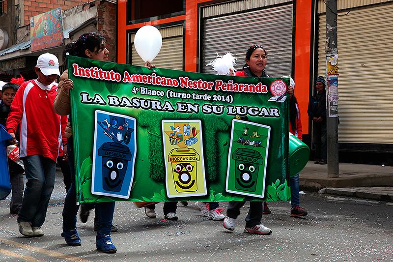 Défilé pour la gestion des déchets, La Paz, Bolivie - 2014