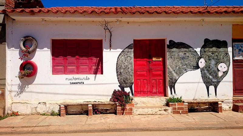 La maison aux cochons, Samaipata, Bolivie - 2014