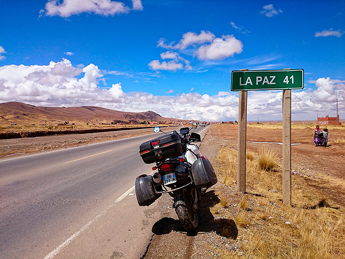 La Paz, plus que 41 kilomètres, Bolivie - 2014