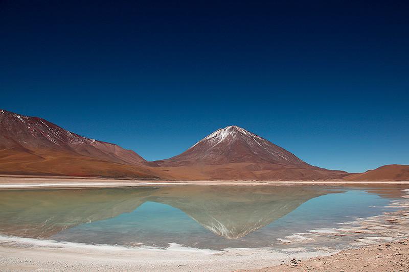 La laguna Verde et le volcan Licancabur, Sud Lipez, Bolivie - 2014