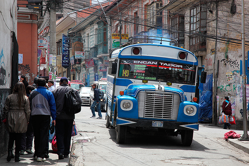 Les bus de La Paz, Bolivie - 2014