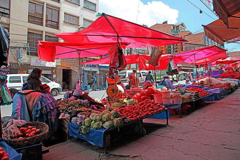 Les marchés de La Paz, Bolivie - 2014