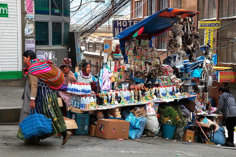 Mercado de hechiceria (Marché des sorcières), La Paz, Bolivie - 2014