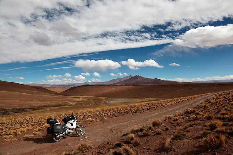 Amérique du Sud à moto, sur la piste, Sud Lipez, Bolivie - 2014