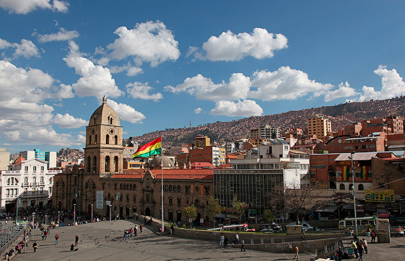 Plaza San Francisco, La Paz, Bolivie - 2014