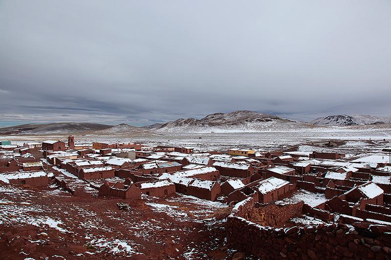 San Pablo de Lipez sous la neige, Sud Lipez, Bolivie - 2014