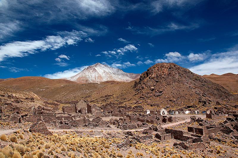 "Village abandonné ""El pueblo fantasma"" dans le sud Lipez, Bolivie - 2014"