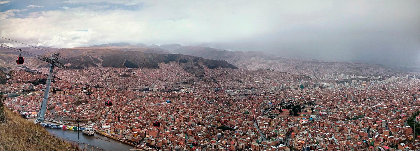 La Paz sous les nuages, Bolivie - 2014