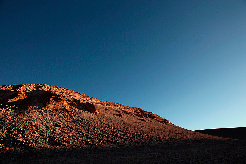 Lumière rasante, vallée de la lune, San Pedro de Atacama, Chili - 2014