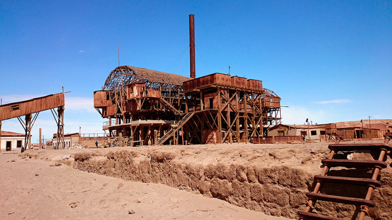 Officina salitrera Santa Laura, désert d'Atacama, Chili - 2014