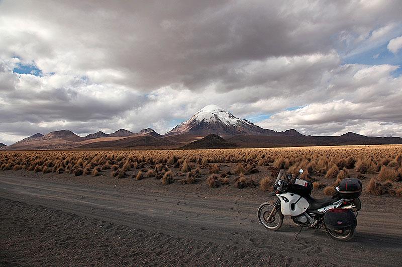 Sur la piste de Sajama, Bolivie - 2014