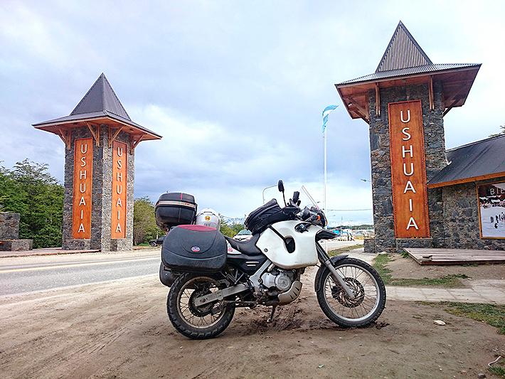 Arrivée à moto à Ushuaia, Argentine - 2014