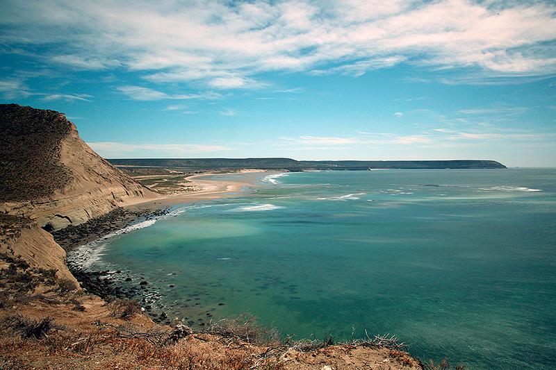 Paysage de la côte Atlantique, Patagonie, Argentine - 2014