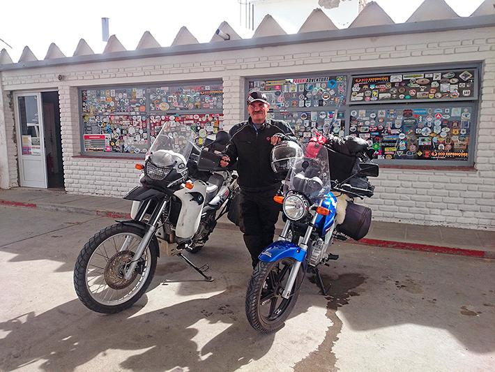 Diego et son 250 Honda, Ruta 3, Argentine - 2014