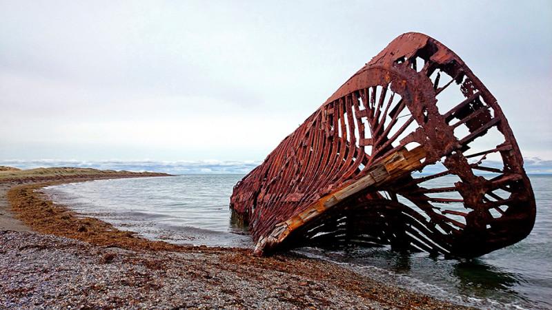L'épave du navire Ambassador, détroit de Magellan, Terre de Feu, Chili - 2014