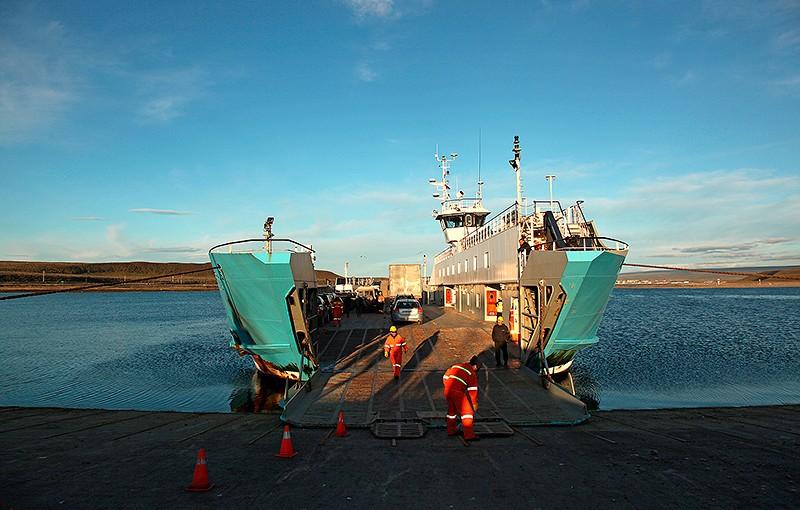 Porvenir, le ferry pour Puntas Arenas, Terre de Feu, Chili - 2014