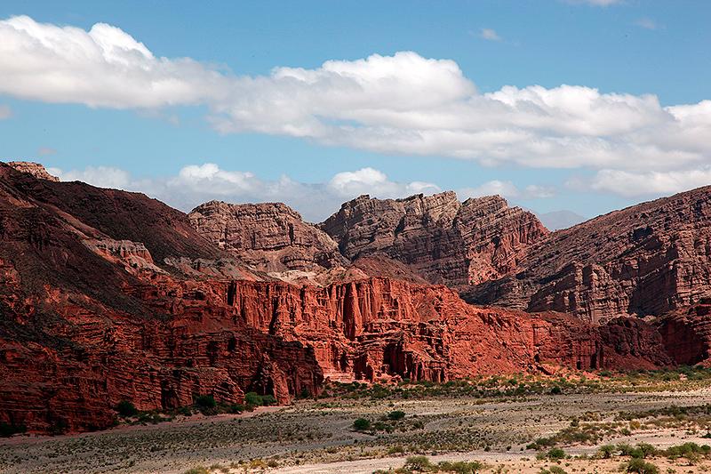 Formations rocheuses, aux environs de Belen, Argentine - 2014