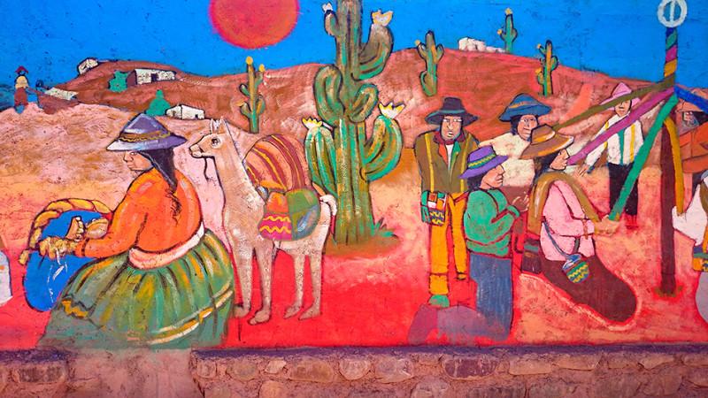 Fresque murale, Tilcara, Argentine - 2014