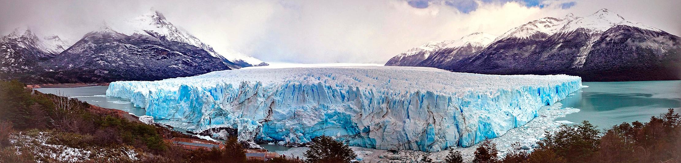 Vue panoramique du glacier Perito Moreno, El Calafate, Argentine - 2014