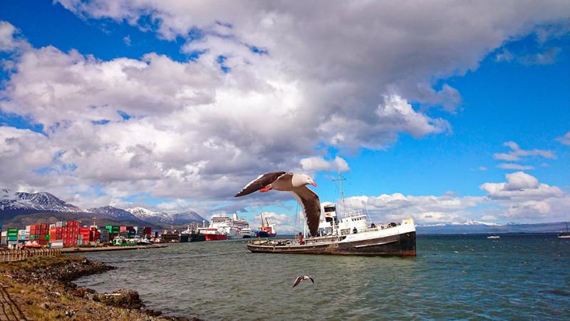 Le Saint Christopher échoué dans la baie d'Ushuaia, Argentine - 2014