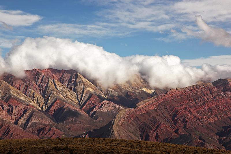 Les montagnes colorées du mirador d'Hornocal, Humahuaca, Argentine - 2014