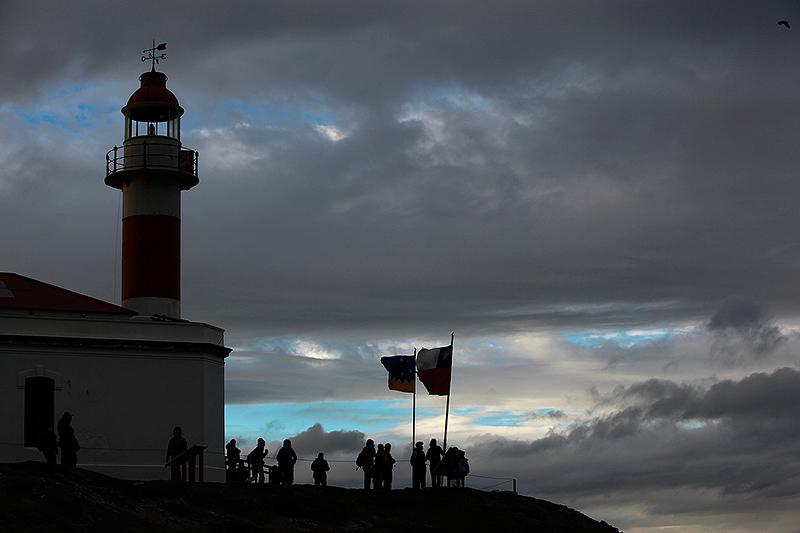 """Le phare de """"La isla Magdalena"""", détroit de Magellan, Chili - 2014"""