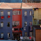 Maisons colorées, Valparaiso, Chili - 2014, photo 01
