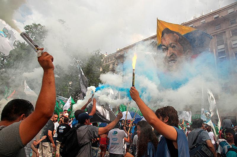 Manifestations de joie plaza de Mayo, Buenos Aires, Argentine - 2014
